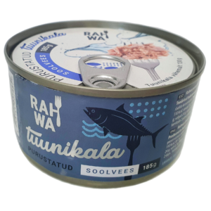 Purustatud tuunikala soolvees, shredded tuna in brine