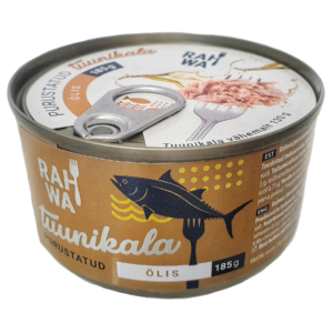 Shredded tuna in oil, purustatud tuunikala õlis