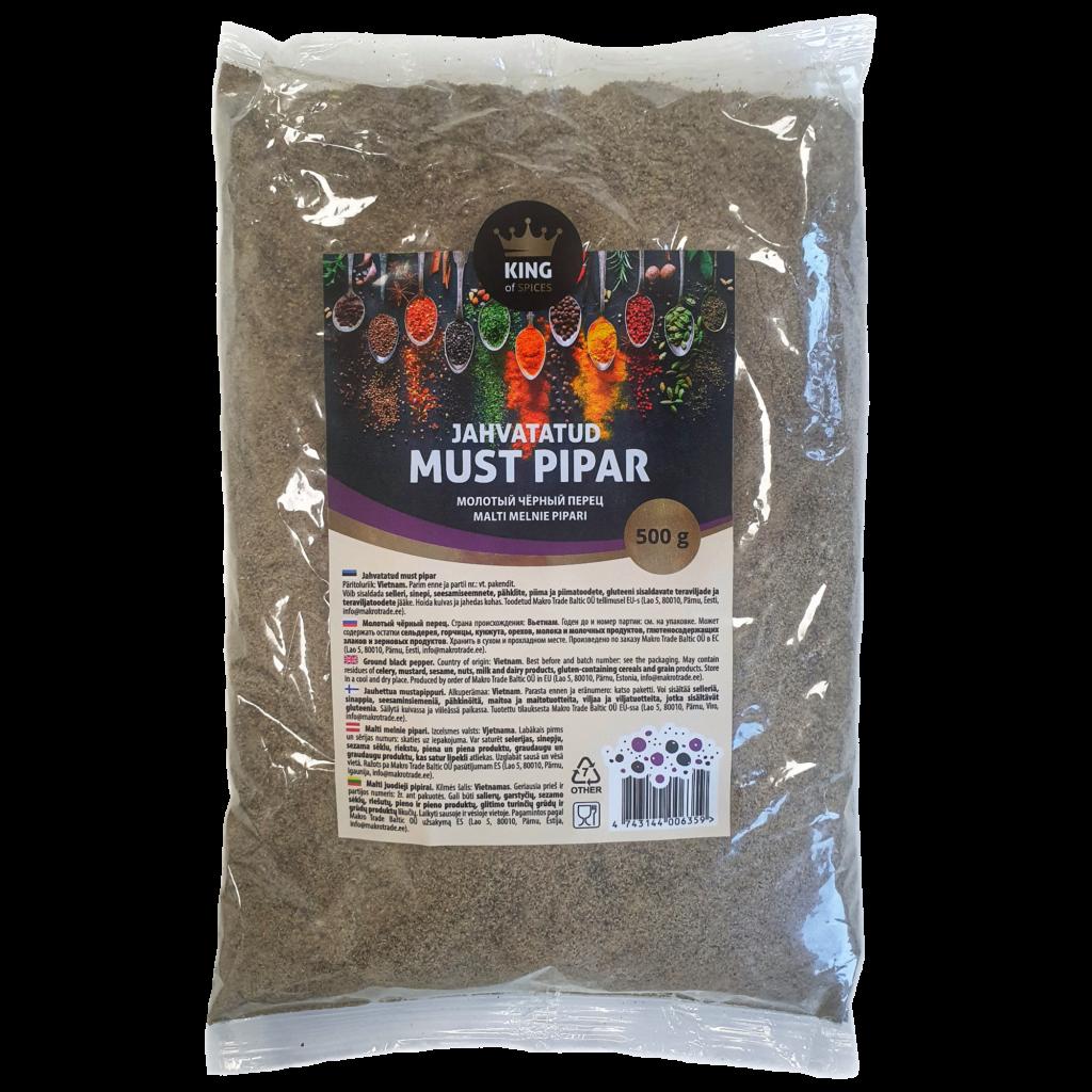 King of Spices jahvatatud must pipar, Ground black pepper